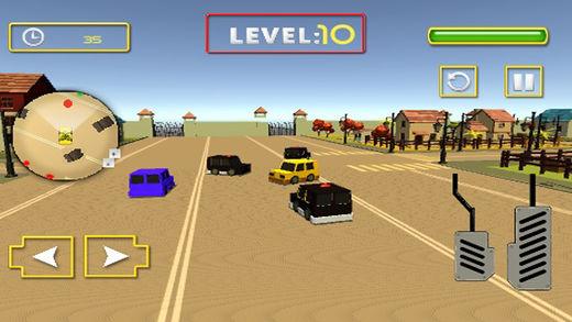 警车追逐赛与警察