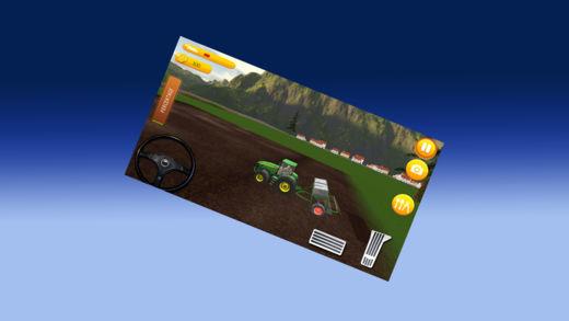3D 农场拖拉机运输