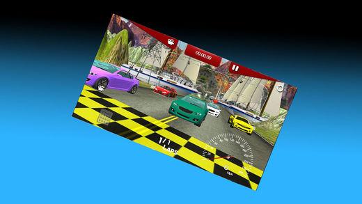3D 涡轮增压跑车赛车
