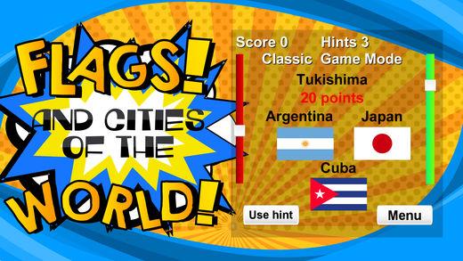 国旗和城市