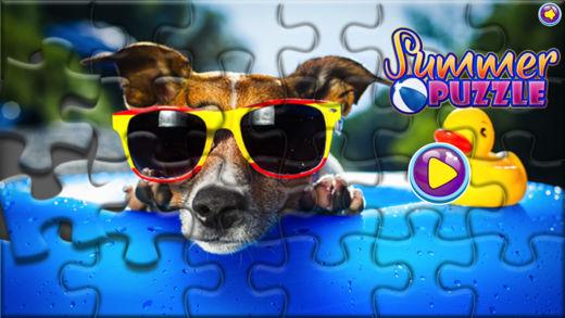 夏日拼图-趣味的益智小游戏