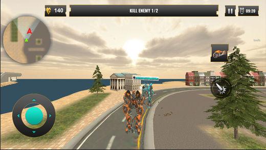 飞行 自行车 变压器 机器人