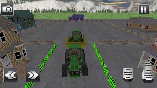 真正的拖拉机停车场3d