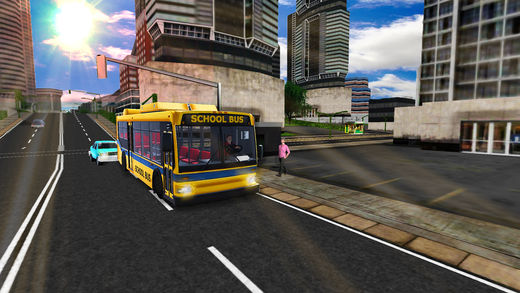 城市高中巴士停车场