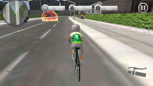 自行车交通赛车手