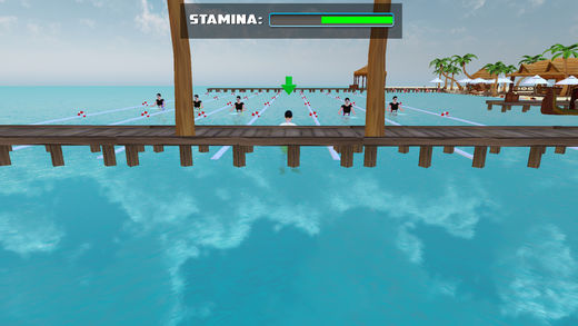 海滩游泳比赛