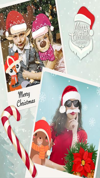 圣诞节滑稽的脸效果