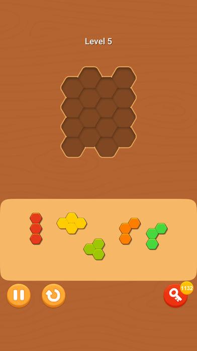 六边形木块拼图! Wooden Jigsaw!