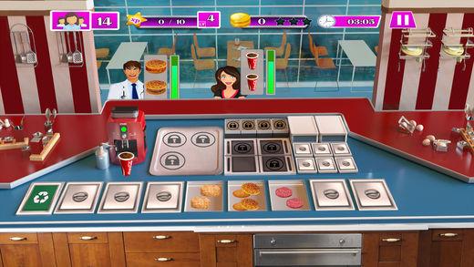 烹饪 游戏 比萨 汉堡包 店
