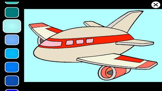 飞机油漆着色页