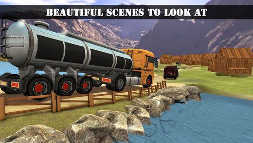 拖车卡车油运输3D