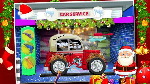圣诞圣诞老人汽车修理