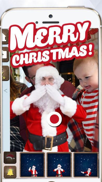 跟圣诞老人拍视频.