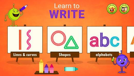 学习写和跟踪字母表