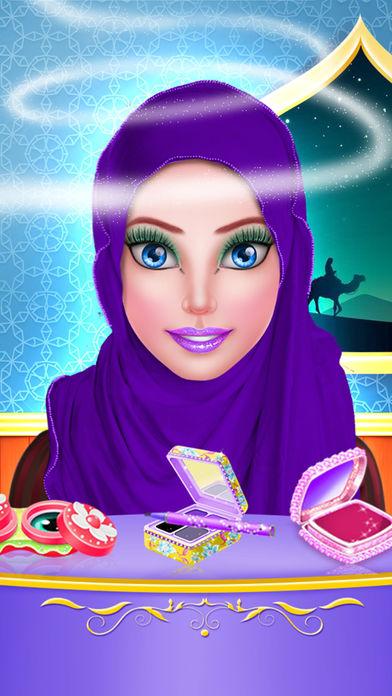 头巾换装娃娃和化妆