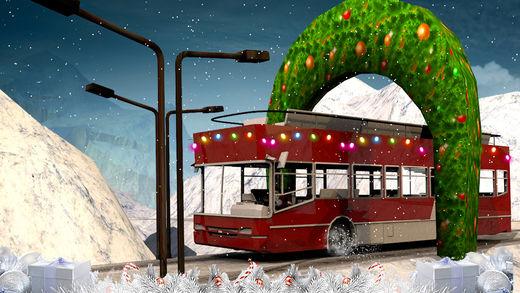冬季雪公共汽车模拟器2017年