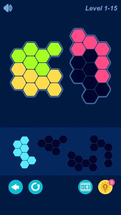 经典益智六边形方块拼图