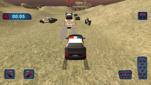 越野警察卡车运输