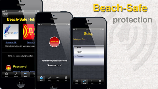 Beach Safe - iphone,ipad防盗器