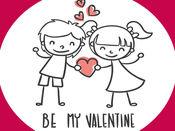 Be my Valentine - stickers 1
