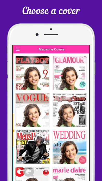 CoverCam - get on the cover of a popular magazine with your camera!