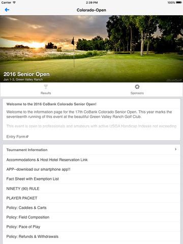 Colorado Open Golf Championships
