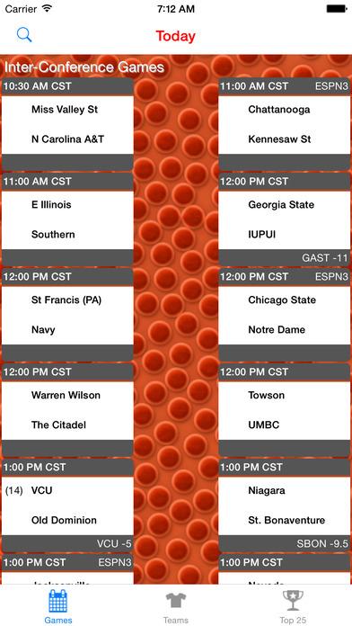 College Basketball Scores  Schedule