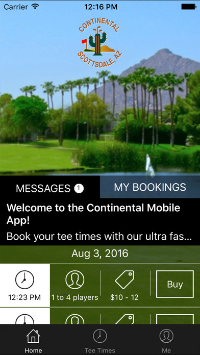 Continental Golf Tee Times