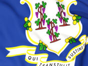 Connecticut Flag Stickers