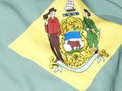Delaware Flag Stickers 1
