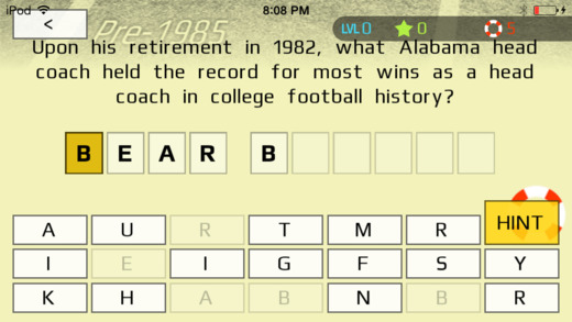 College Football Trivia: Awards  Stats