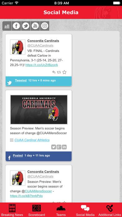 Concordia Cardinals Athletics