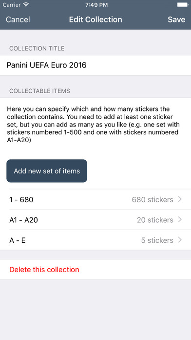 Collectio - Sticker Manager