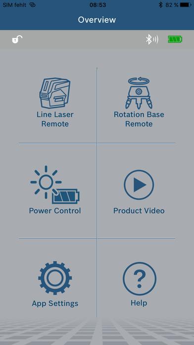 Bosch Levelling Remote App