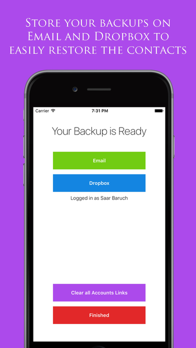 Backup My Contacts Assistant
