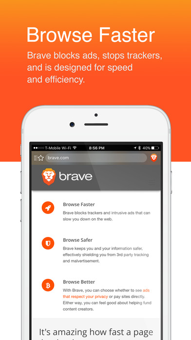 Brave Web Browser: Fast with built-in adblock