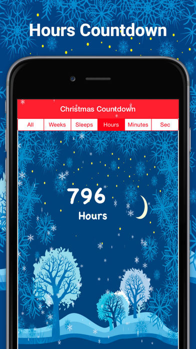Sleep Count Down Reminders before christmas app