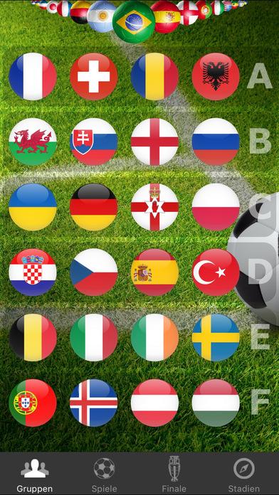 Euro 2016 Spielplan