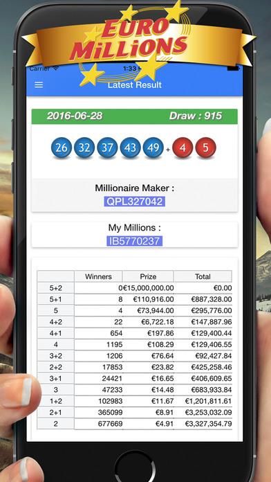 EuroMillions  Millionaire Maker My Million result