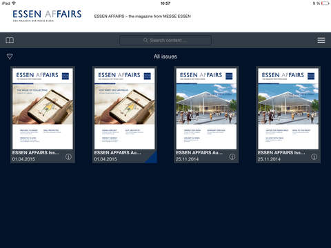 ESSEN AFFAIRS – the magazine from Messe Essen