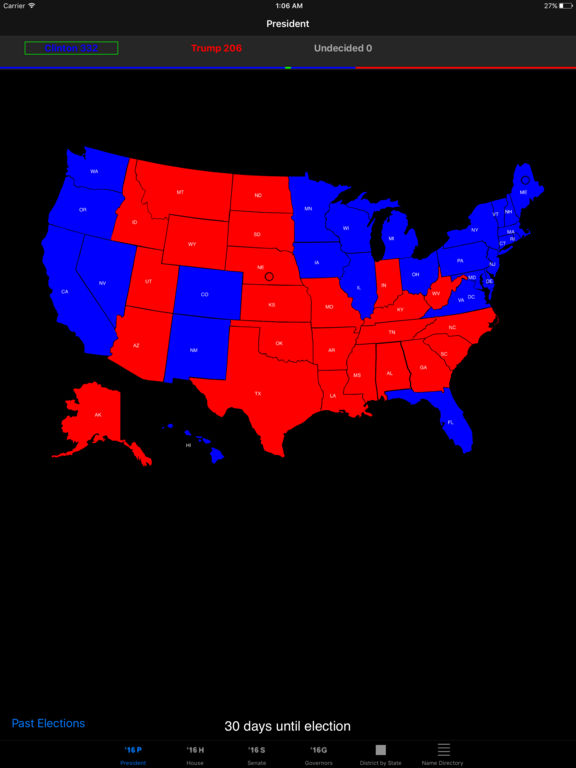 Election 2016 Electoral Maps