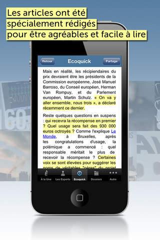 Economie Matin pour iOS4