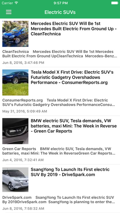 Electric Car News  Vehicles Rumors