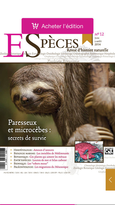 Espèces, revue de sciences naturelles