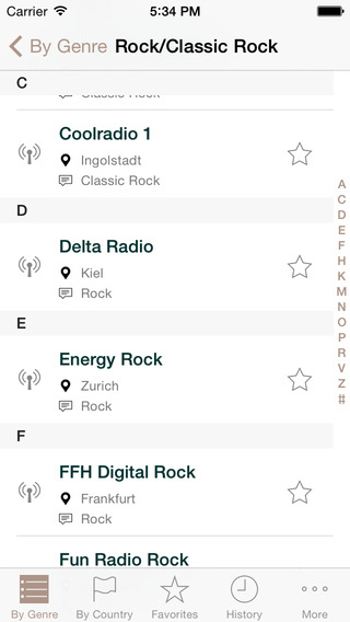 EuroRadio - European radio stations streaming