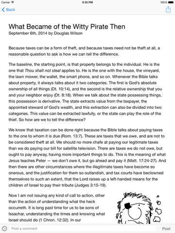 Douglas Wilson - Blog & Mablog