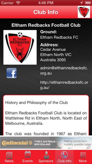 Eltham Redbacks Football club