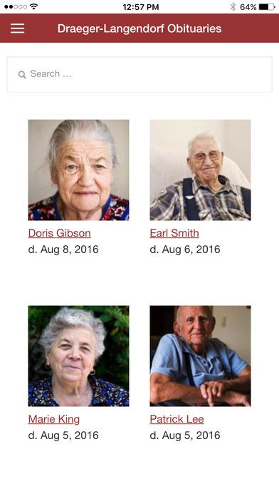 Draeger-Langendorf Obituaries