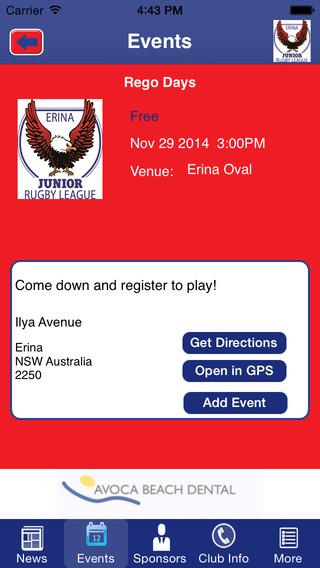 Erina Junior Rugby League Football Club