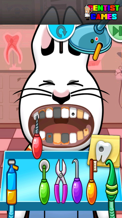 Doctor Dentist Game Kids For Max Rabbit Edition